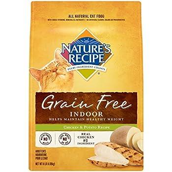 Nature's Recipe Grain Free Dry Indoor Cat Food, Chicken and Potato Recipe, 11-Pound