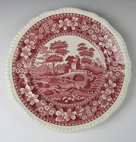 Spode China TOWER PINK-OLD BLACKSTAMP Luncheon Plate(s) -