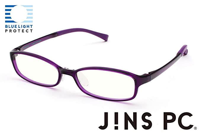 1aa7ec3c13 Image Unavailable. Image not available for. Color: JINS PC Glasses Computer  Eyewear Purple (Clear Lenses ...