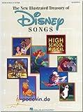 The New Illustrated Treasury of Disney Songs - Songbook Klavier, Gesang & Gitarre Noten [Musiknoten]