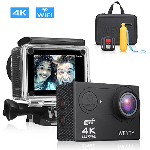 WeyTy Action Camera X9S 4K Ultra HD Sports Camera 12MP Wifi Waterproof Camcorder 170 Degrees Wide-Angle Len Underwater Camera with Remote Control, Travel Bag and Mounting Accessories Kit