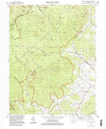 Aerial Topo Maps (Old Rag Mountain VA topo map, 1:24000 scale, 7.5 X 7.5 Minute, Historical, 1994, updated 1997, 26.7 x 22 IN - Paper)