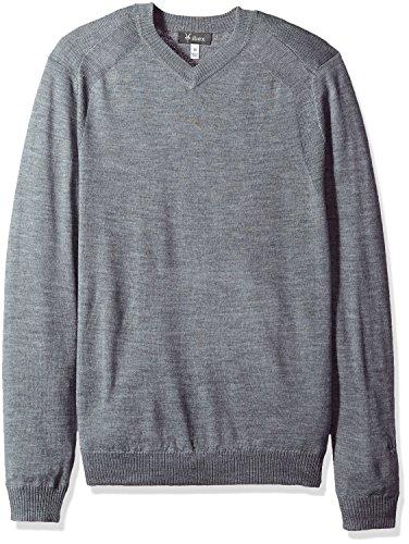 Merino Wool Blend Sweater (Ibex outdoor Clothing Merino Wool Potter Sweater, Stone Grey Heather, Small)
