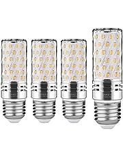Lampadine LED di mais, E27 candelabro a LED da 15 W, 120W equivalenti a incandescenza, Bianca Calda 3000K 1500LM, CRI>80+, non dimmerabile,Edison Lampadine Mais-4 pezzi (Bianco caldo)
