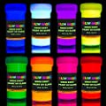 GLOW MAGIC Neon UV Body Paint Set - 8 x 0.7 fl oz - Black Light Make Up - Bodypainting Neonn Blacklight Bodypaint Face & Finger Paints