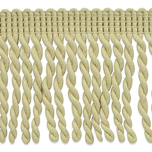 (3in Cotton Bullion Fringe Trim Natural)