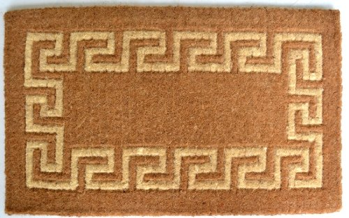 - Imports Decor Coir Doormat, Greek Key, 24-Inch by 39-Inch