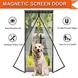 Magnetic Screen Door Magic Mesh Curtain with Anti-mosquito Fits Door Openings up to 34x82 MAX Vainl