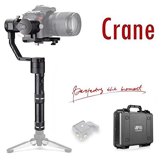 Zhiyun Crane V2 3-Axis Handheld Gimbal Stabilizer for DSLR Mirrorless Cameras up to 3.96 lbs, i.e. Canon M, Sony A7, Nikon J,Panasonic Lumix (Updated Version) (Best Gimbal For Dslr)