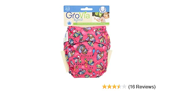 Amazon.com : GroVia Hybrid Snap Shell Diaper, Peacocks, One Size : Baby Diaper Covers : Baby