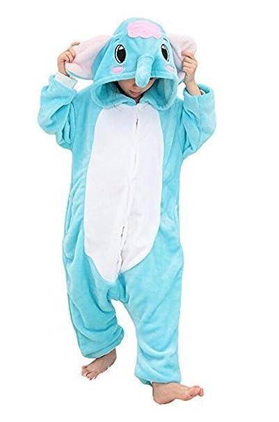 YOGLY Pijamas de Niños Elefante de Dibujos Animados Disfraz Pijamas Ropa Infantil Cosplay