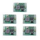 Puuli 5 Pcs LM2596S Module 3A DC-DC Converter Adjustable Step Down Power Supply Modular Input 4.5-28V Output 0.8V-20V