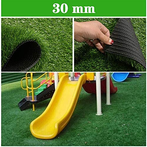 GAPING 人工芝人工芝マット緑合成芝生屋外緑植物装飾サッカー場カーペット高さ30mm (Size : 2x6m)