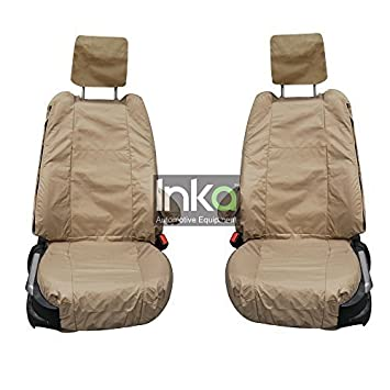 Land Rover Discovery 3 Rear Set INKA Tailored Waterproof Seat Covers Beige