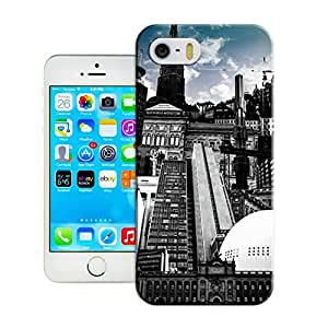LarryToliver Cellphone iphone 5/5s Case with Customizable Now the city pattern Background
