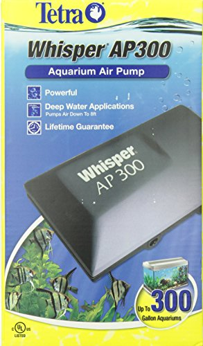 Tetra Whisper AP300 Aquarium Air Pump, for Deep Water Applications