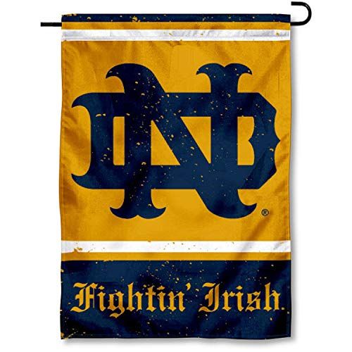 WinCraft Notre Dame Throwback Vintage Retro Garden Flag