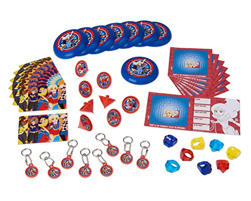 American Greetings DC Super Hero Girls Party Favor Value Pack -