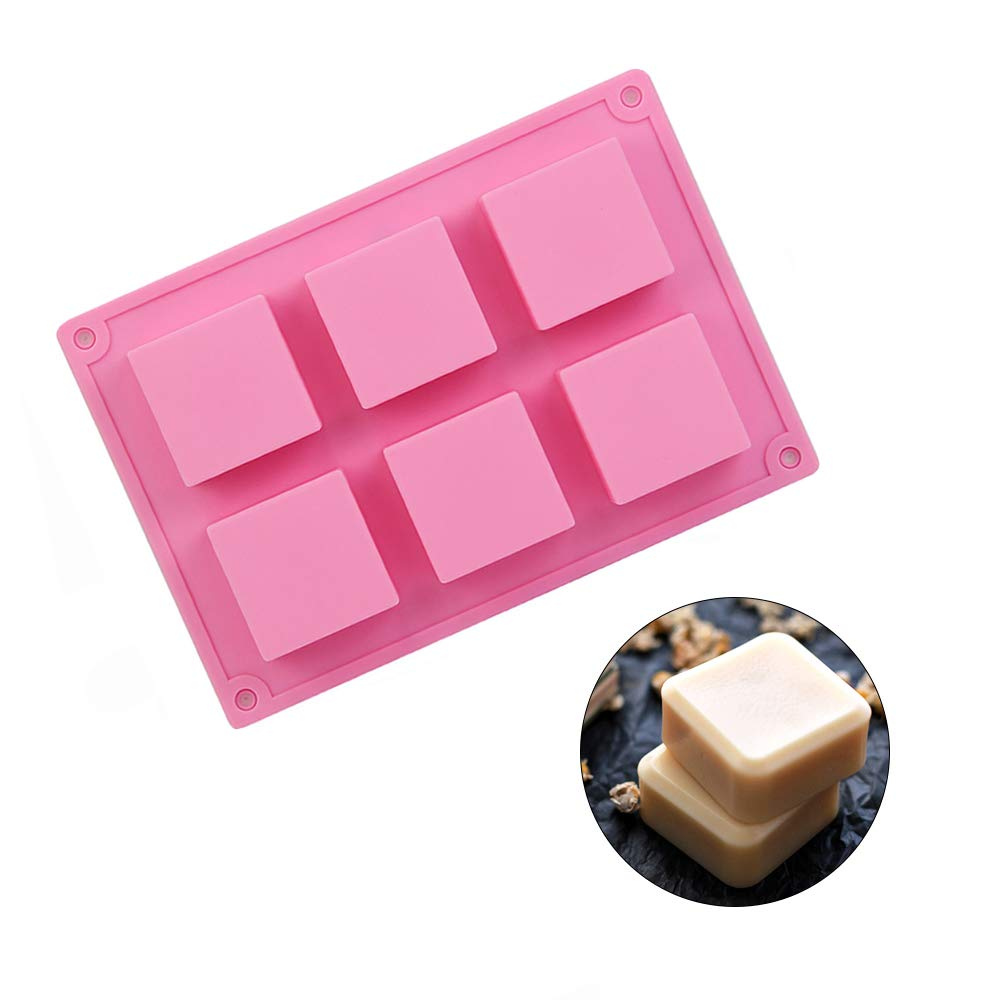 Amazon.com: Soap Silicone Molds 2pcs 12 Cavities Square Baking Mold for Soap Candles and Jelly