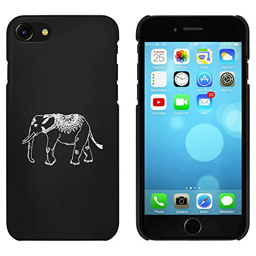 Noir 'Elephant Indien' étui / housse pour iPhone 7 (MC00067203)