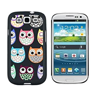 Cute Owls Owl PatternCase for Samsung Galaxy S3 Black cover for iphoneiphone case for boys