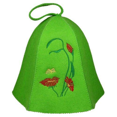 feutré e Casquette Chapeau de sauna Bonnet pour sauna pour femme Printemps brodé e Fleur rukauf