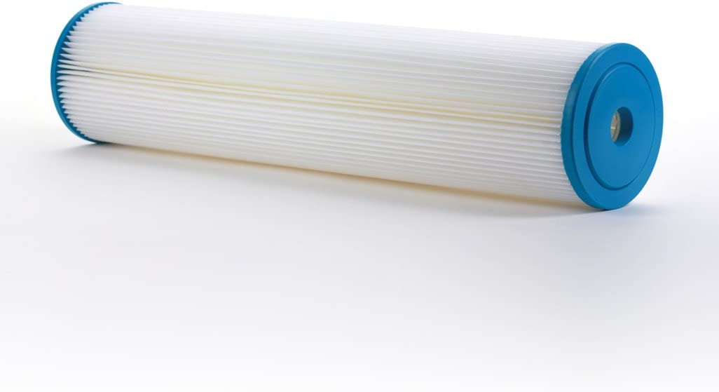 "Hydronix SPC-45-2050 Polyester Pleated Filter 4.5"" OD X 20"" Length, 50 Micron"