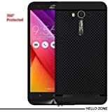 Hello Zone Exclusive Dotted Design Soft Back Case Cover Back Cover For Asus Zenfone 2 Laser (5.5 inch) ZE550KL-Black