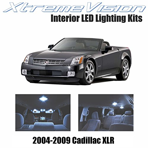 XtremeVision Cadillac XLR 2004-2009 (6 Pieces) Cool White Premium Interior LED Kit Package + Installation Tool