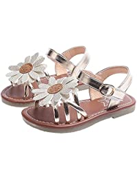 PPXID Toddler Little Girl's Princess Soft Sole Flower Casual Beach Sandals