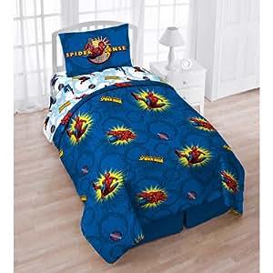 Amazon Com Marvel Comics Spiderman Pow Twin Comforter