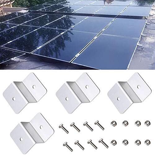 Alicer Solar Panel Montage Z Halterung 4er Set für Caravan, Boot, Auto, LKW(Silver)