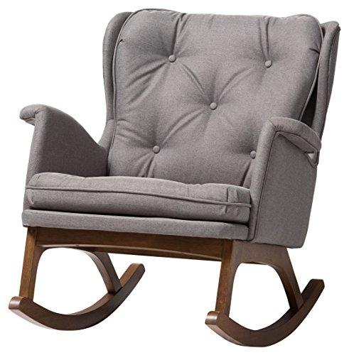 Baxton Studio 424-7847-AMZ Magdalena Rocking Chair, Grey
