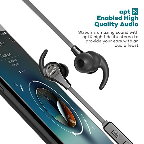Large Product Image of VAVA MOOV 25 Bluetooth Headphones, Magnetic Wireless Headphones Sports Bluetooth Earphones, aptX High Fidelity Stereo, IPX6 Splash Proof Earbuds, 9 Hour Battery, cVc 6.0 Noise Cancelling Microphone