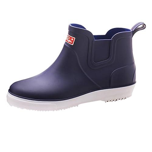 low priced 834d6 7e837 Xinwcang Herren Regenstiefel Wasserdicht Atmungsaktiv PCV Gummistiefel  Kurzschaft Regen Boots