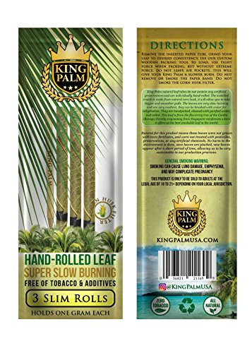 King Palm Box 24 packs / 3 Hand Rolled leaves per pack (72 total)