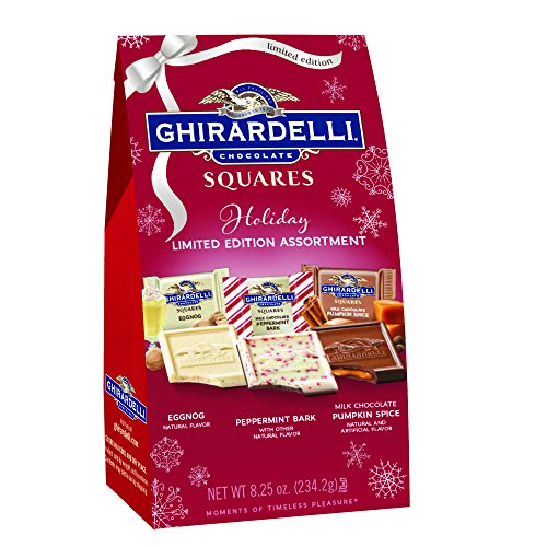 (Ghirardelli Limited Edition Holiday Assorted Squares Bag, 8.25 Ounces)