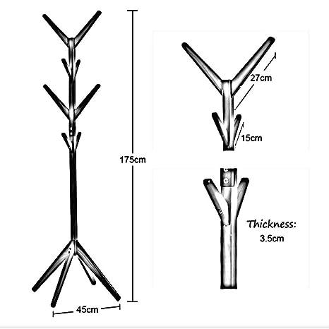 Amazon.com: Perchero de pie de madera maciza con forma de ...
