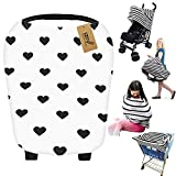 iZiv Ultrasoft 4-in-1 Multi-use Baby Stretchy Cover Car Seat Canopy/Nursing Cover/Shopping Cart Cover/Infinity Scarf Perfect Gift for Baby (Color-2)