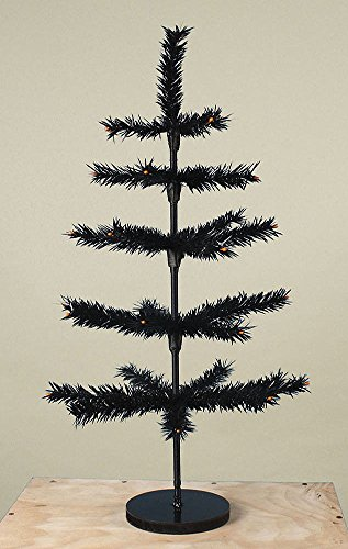 "30"" Tall Artificial Halloween Ornament Tree Bethany Lowe New with wood base"