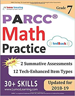 PARCC Test Prep 7th Grade Math Practice Workbook And Full Length