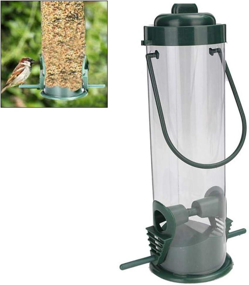 Hihey Alimentador de Aves Tipo de suspensión de plástico Pet Bird Bird Feeder Tree Decoración de jardín al Aire Libre para Parrot Perico Cockatiel Canario