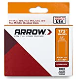 Arrow Fastener 7514S Genuine 7/8-Inch T75 Staples, 1,000-Pack