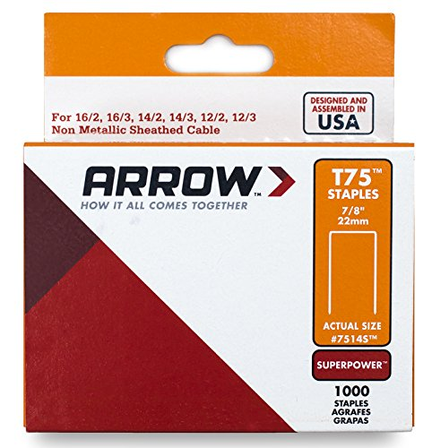 Arrow Fastener 7514S Genuine 7/8-Inch T75 Staples, 1,000-Pack by Arrow Fastener