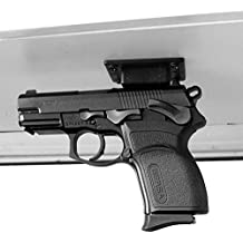 Magnetic Gun Mount & Holster For Vehicle And Home. Coated, Holds 20 Lb. Concealed Holder For Handgun, Rifle, Shotgun, Pistol, Revolver, Truck, Car, Wall, Counter, Vault or Desk