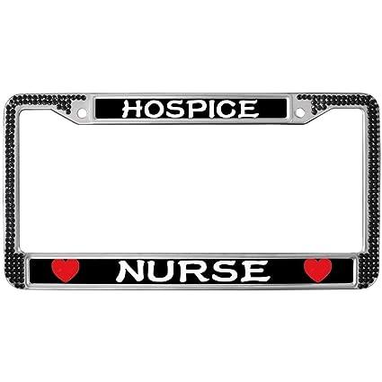Amazon GND Hospice Nurse Crystal License Plate Frame BlackRN Mesmerizing Hospice Nurse Quotes