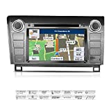 "AIMTOM AMN-6016-MB 2007-2013 Toyota Tundra 2008-2014 Sequoia in-Dash GPS Navigation Stereo FM AM Radio Bluetooth DVD CD Deck 7"" Touch Screen AV Receiver USB SD Multimedia Player w/iGo Primo Maps"