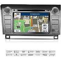 Aimtom 2007-2013 Toyota Tundra 2008-2014 Sequoia Indash Car GPS Navigation System 7 Inch Touch Screen Stereo Radio Display AV Receiver Bluetooth USB SD Deck DVD CD Player Copyrighted iGo Primo Maps