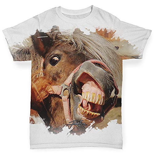 - TWISTED ENVY Baby Tshirts Laughing Horse White 12-18 Months