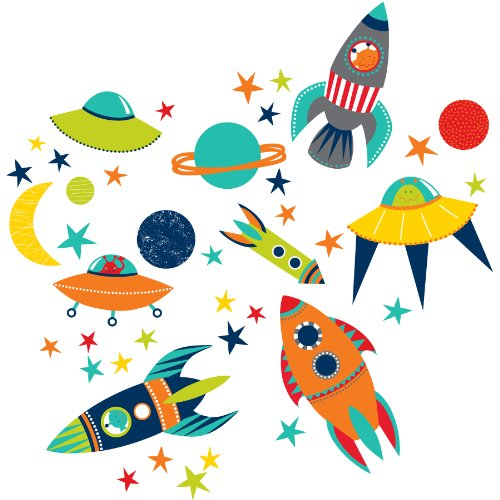 Wall Pops  WPK0628 Blast Off Wall Decals